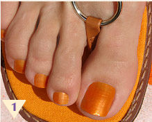 Hold brush vertical to the nail and add a stripe down the middle of ...