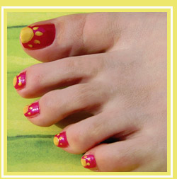 How to design with nail art tools and brushes sunny toes pedicure idea prinsesfo Choice Image