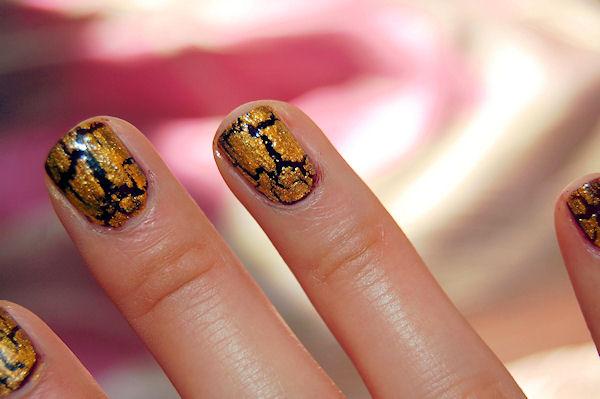 Crackle Gold 24K Gold over dark polish